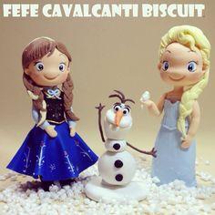 Anna e Elsa fofinhas por Fefe Cavalcanti Biscuit  Orçamentos por e-mail Fefecavalcantibiscuit@gmail.com