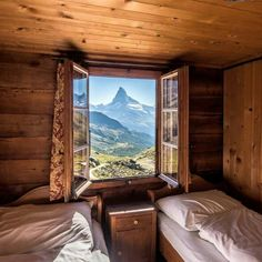 Room Fluhalp - Zermatt, Switzerland Room With a View: The Best Hotel Views Around the World - Condé Nast Traveler Beautiful Hotels, Beautiful Places, Switzerland Vacation, Switzerland Hotels, Zermatt, Window View, Best Hotels, Unique Hotels, View Photos