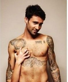 adam levine  - not really Pinterest appropriate but wowza!
