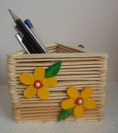 porta canetas de palito de picole