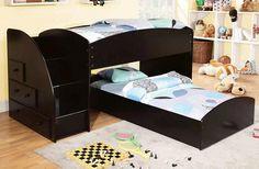 Avec Twin L Shape Low Stairway Loft Bed
