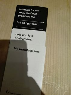 [Humor]Twisted Humor against humanity Stupid Funny Memes, Funny Animal Memes, You Funny, Funny Posts, Funny Quotes, Hilarious, Funny Stuff, Funniest Cards Against Humanity, Cards Of Humanity