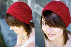 free pattern - inspired by hat worn by Kirsten Dunst in Elizabethtown #movies #cinema #knitting