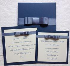 partecipazione matrimonio carta da zucchero con fiocco chanel