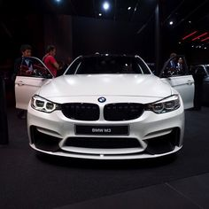 BMW M3 comes with all the  M performance parts possible! #FrozenBrilliantWhite…