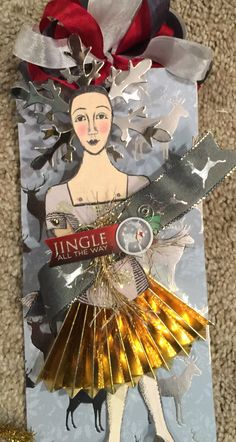 Character Constructions Christmas tag by Linda Clancy