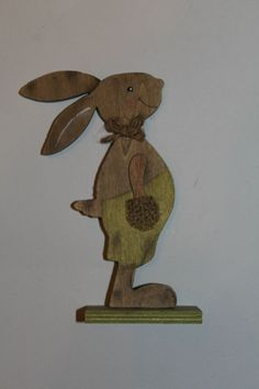 Bunny Crafts, Easter Crafts, Wooden Rabbit, Wood Cutouts, Wooden Animals, Scroll Saw, Wooden Crafts, Hobbies And Crafts, Woodworking Crafts