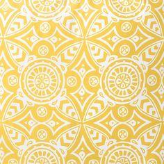 Bold medallion print #yellow duvet resort13
