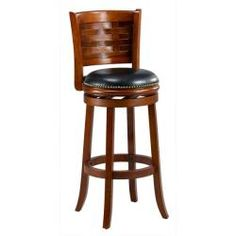 @Overstock.com - Brooklyn Cherry Woven Back Swivel Bar Stool - Add a touch of charm to your kitchen with this Brooklyn bar stool. This dining room furniture features a 360-degree swivel seat and comes in a rich cherry finish.  http://www.overstock.com/Home-Garden/Brooklyn-Cherry-Woven-Back-Swivel-Bar-Stool/5579839/product.html?CID=214117 $97.99
