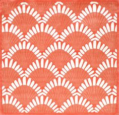 District17: Shells Nouveau Rug in Coral: Patterned Rugs,Round & Oval Rugs