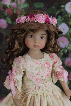"OOAK Smocked Dress Ensemble 13"" Little Darling Doll Betsy McCall"