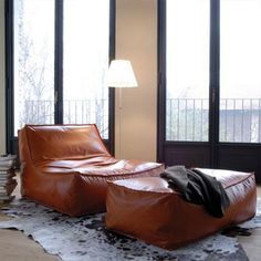Most Comfortable Lounge Chair for Your Home: Attractive Zoe Low Most Comfortable Lounge Chair With Leather Brown Color ~ darvoda.com Furniture Inspiration