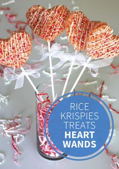 Using this recipe for Rice Krispies Treats® Heart Wands, it couldn't be easier to make a Valentine's Day themed dessert! The pink, red, and white sprinkles help make these bites even more adorable.