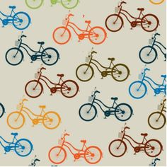Colorful Bicycle Pattern Statuette