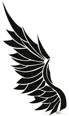 Cool wing tattoo design