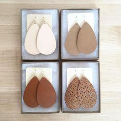 beautiful leather earrings #fallcolors #nickelandsuede