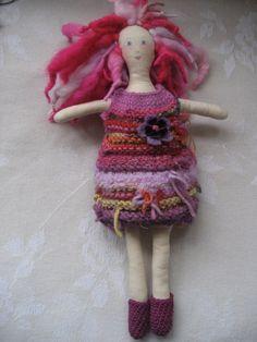 handmade doll- love the dress