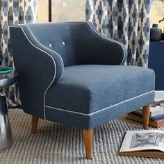 The West Elm item I am currently crushing on: Captain's Chair - Contrast Trim | West Elm