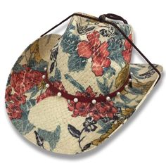 8cede28950c Cowboy Cowgirl Hat Garden Colorful Flowers Rodeo Western One Size Sun West