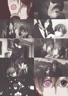 sebastian x ciel, from kuroshitsuji/black butler #anime