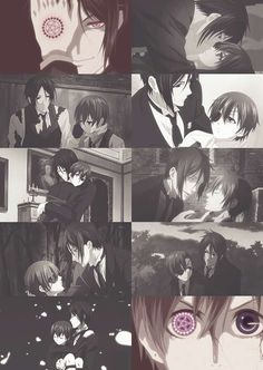 sebastian x ciel, from kuroshitsuji kiss him, kiss him, kiss him why not? ;_;