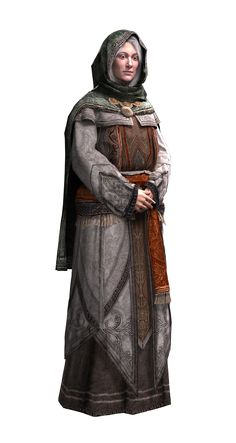f Cleric Med Armor Robes Cloak urban town Temple streets northern castle Maria Thorpe lg Warhammer Fantasy Roleplay, Fantasy Rpg, Medieval Fantasy, Dnd Characters, Fantasy Characters, Female Characters, Fantasy Portraits, Character Portraits, Fantasy Inspiration