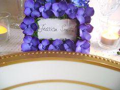 Escort Card Holder Purple Wedding Place Card Frame Bridal Shower Favors Wedding Favours Made to Order Set of 10