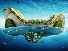 La cité flottante Lilypad conçue par Vincent Callebaut / © Vincent Callebaut Architectures