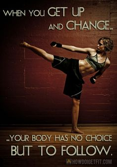 nike workout quotes | ... up and change, fitness saying | Quotes and Sayings in Photos & Images