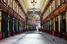 Leadenhall market in London. It is one of the oldest markets in London, dating back to the 14th century.