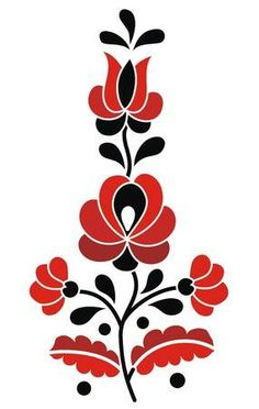 Hungarian Embroidery Patterns hungarian folk: Little Hungarian Folk Motif - Hungarian Embroidery, Folk Embroidery, Learn Embroidery, Hungarian Tattoo, Chain Stitch Embroidery, Embroidery Stitches, Embroidery Patterns, Bordado Popular, Stitch Head