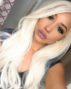White Blonde Wig Long Straight Lace Front Synthetic Hair Wigs For Women Heat OK Frontal Hairstyles, Wig Hairstyles, Blonde Wig, Ash Blonde, Light Blonde, Blonde Balayage, Blonde Highlights, Golden Blonde, Blonde Shades