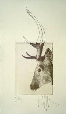 """Herteman"" original etching by Ronald Ceuppens"