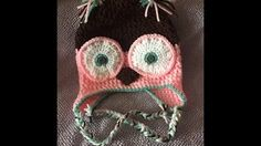 Crochet Owl Beanie - Part 1 - Yolanda Soto Lopez - YouTube