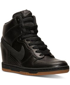 Nike Women s Dunk Sky Hi Essential Casual Sneakers from Finish Line Shoes -  Finish Line Athletic Sneakers - Macy s 14d1ca14e33