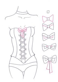 In this step-by-step tutorial you will learn how to draw a corset for fashion design sketches. Draw corsets with lacing at the back or at the front easily