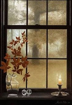 Misty Autumn Morning, but cosy decoration