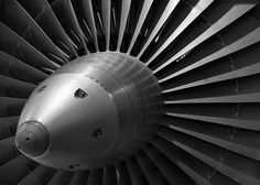 Rolls Royce jet engine detail