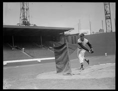 Ted Williams pitching batting practice  1940 - 1946 (approximate)