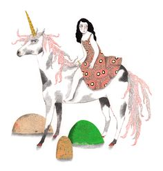 Collage, 3 Arts, Unicorn, Moose Art, Horses, Ink, Christmas Ornaments, Holiday Decor, Animals