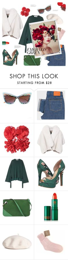 """... in human affairs of danger and delicacy successful conclusion is sharply limited by hurry. east of eden - john steinbeck."" by gabrielleleroy ❤ liked on Polyvore featuring PS Paul Smith, Missoni, BLANCHA, TIBI, Jessica Simpson, J.W. Anderson, Lipstick Queen, Samantha Holmes, Language Of Flowers and emeraldgreen"