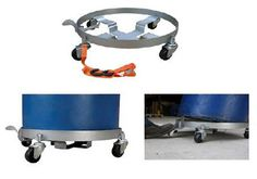 Tilting Drum Dollies are a round steel drum dolly designed exclusively for 55 gallon drums. Includes unique feature to tilt drums 10° for better liquid extraction. Tilting feature is foot-operated and locks into place when activated. Dolly includes four swivel casters for maximum maneuverability.
