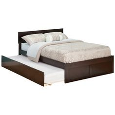 Atlantic Furniture Urban Lifestyle Orlando Bed with Trundle: maybe for both the boys to share a room and make the other room for play?
