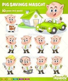 Pig Savings Mascot