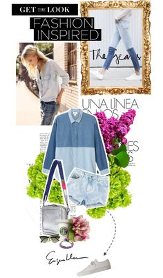 """denim on denim"" by n-zy ❤ liked on Polyvore"