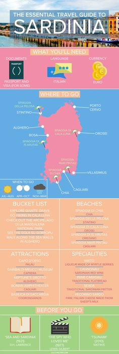 The Essential Travel Guide to Sardinia (Infographic)|Pinterest: @theculturetrip #infografias #infographic