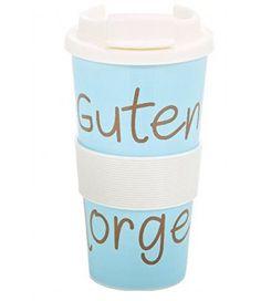 Coffee to Go GUTEN MORGEN von Mea-Living Kunststoff Reisebecher Kaffeebecher Becher  - 2-flowerpower