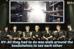 omgosh I thought the exact same thing when I watched this MV...why don't they just talk around the bookshelves?