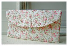 pink roses clutch purse Spring  Clutch by hoganfe, $16.00
