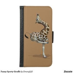 Funny Sporty Giraffe Wallet Phone Case For Samsung Galaxy S6